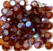12pc Faceted Crystal Rounds 8x5mm Smoke Topaz
