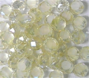 12pc Faceted Crystal Rounds 8x5mm Lemon