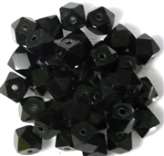 10pc Firepolish Cube Jet Black 10mm