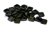 10pc czech glass picasso squares jet black 8mm