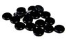 20pc czech glass coins jet black 10mm