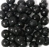 10pc 10mm Glass Sugar Pearls Black