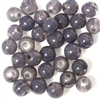 10pc 8mm Glass Rounds Black Diamond