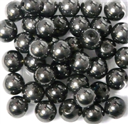 10pc 8mm Glass Rounds Dark Silver