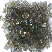 50pc 4mm Glass Cubes Black Diamond