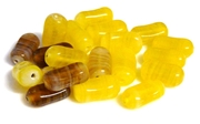 10pc swirl rectangle yellow mix 8x15mm