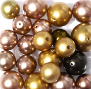 10pc 8-12mm Glass Pearls Topaz Assorted