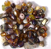 50pc 4mm Assorted Brown Lustre Mix