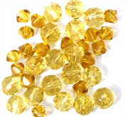 20pc 6-8mm Assorted Topaz Rounds Bicones