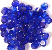 15pc 8mm Glass Cube Cobalt Blue