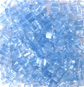 50pc 4mm Faceted Cubes Sapphire Blue