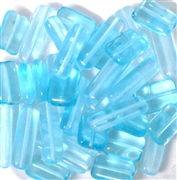 10pc 14x4mm  & 12x8mm Rectangle Mix Aqua Blue