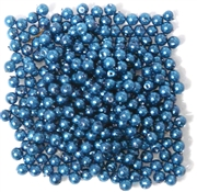 100pc 2mm Glass  Pearls Cobalt Blue