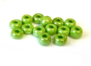 5gm 1/0 seed beads green luster