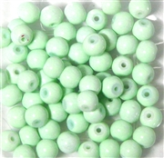 25pc 6mm Glass Rounds Mint Green