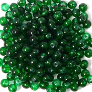 50pc 4mm Glass Crackle Rounds Dark Green