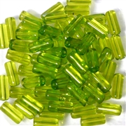 10pc Glass Tubes 10x4mm Olive Green