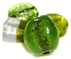 2pc indian glass peridot beads assorted