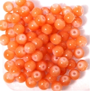 25pc 6mm Glass Rounds Light Orange