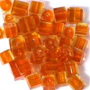 10pc 8mm Glass Orange Cubes