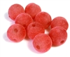10pc 14mm velvet rounds dark pink