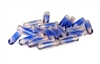 15pc czech glass tubes rosaline blue 14x4mm