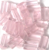 10pc 14x5mm Glass Tubes Rosaline Pink