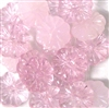 10pc 16mm Glass Flat Flowers Pink Mix