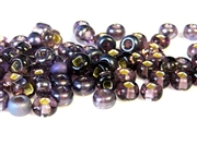 5gm 1/0 seed beads purple silver lined mix