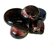 3pc amethyst foil glass assorted mix