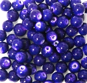 25pc 6mm Glass Rounds Bright Purple