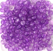 50pc 4mm Crackle Glass Rounds Purple