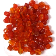 50pc 4mm Assorted Glass Beads Red