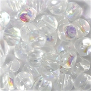 10pc 8mm Nugget Beads Clear AB