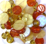 30pc Assorted Glass Beads Yellow Orange Mix