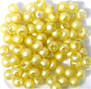 25pc 6mm Glass Rounds Yellow