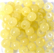 20pc 8mm Glass Rounds Light Yellow