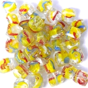 10pc 8mm Glass Cubes Yellow Assorted