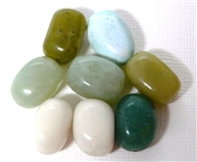 6pc Assorted Green Gemstone Chunks 10-15mm