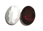 1pc Glass Crystal Stone Oval 30x20mm Red