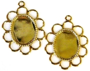 4pc edged small frame setting gold plated