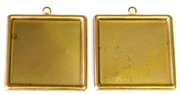 2pc 25mm brass square setting