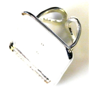 1pc silver plated ring base 25mm square