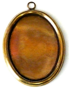 1pc antique gold setting 25x18mm plain edge