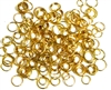100pc Assorted Antique Gold Jump rings 4-8mm