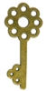1pc Large Flat Flower Skeleton Key Charm Antique Brass 60x37mm