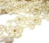 20cm champagne lace embellished 50x60mm