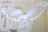 1pc lace butterfly white 19x15cm