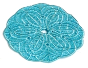 1pc teal large lace round flower