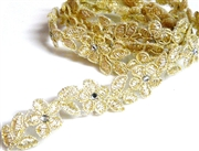 20cm champagne flower lace 15mm width